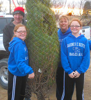 Stop by Pleasant Ridge Farm in Ranoul, Kansas to pick out your live Christmas Tree at Memory Lane Tree Farm.