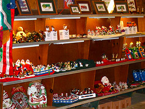 Visit the Red Barn Gift Shop at Pleasant Ridge Farm & Memory Lane Tree Farm in Ranoul, Kansas.